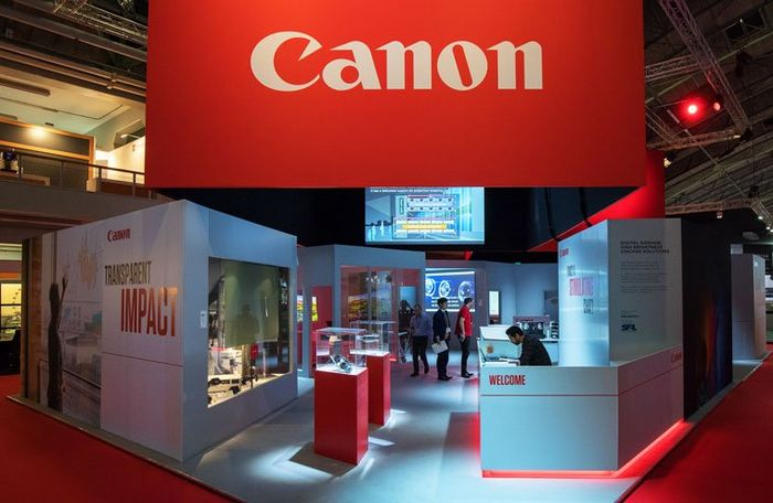 The Canon stand at ISE 2018.
