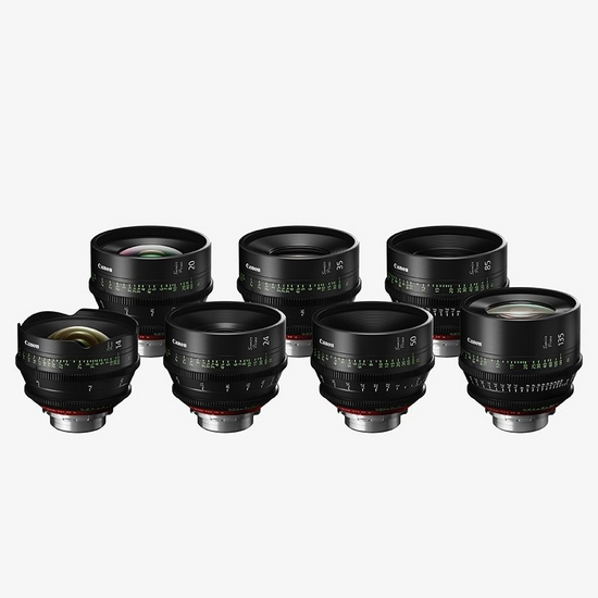 A range of Full-Frame cinema prime lenses with a specially designed 'cinematic look' and interchangeable PL mount.
