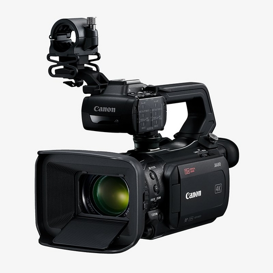 A 1.0-type CMOS sensor compact 4K camcorder with Dual Pixel CMOS AF, 15x optical zoom lens and 3G-SDI (XA55 only).
