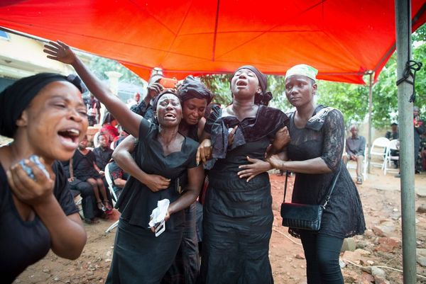 A group of women in mourning in Ghana.