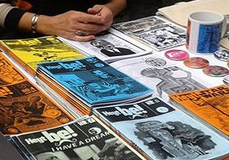 A selection of fanzines for sale