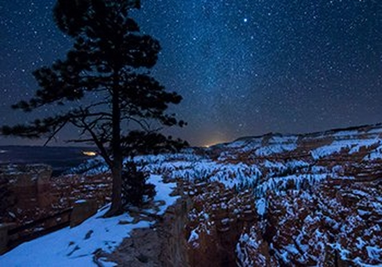 The Milky Way arcing over Bryce Canyon, Utah, USA