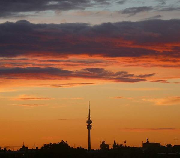 Sunset in Munich Germany