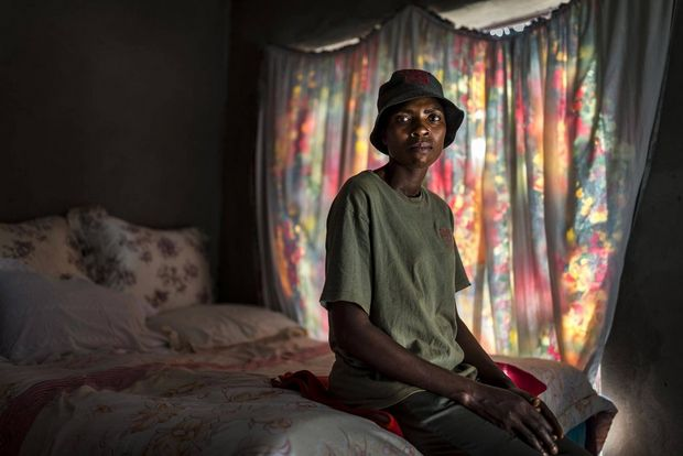Sabie Game Park Village Police member Nomsa Nduvane, 38, seen in her modest home inside the community of Macacasar, Mozambique/South Africa border.