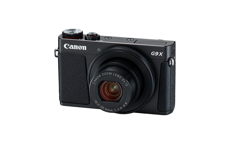 PowerShot G9 X Mark II Black FSL Flash Down