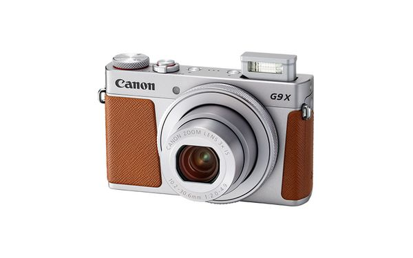 PowerShot G9 X Mark II Silver FSL Flash Up