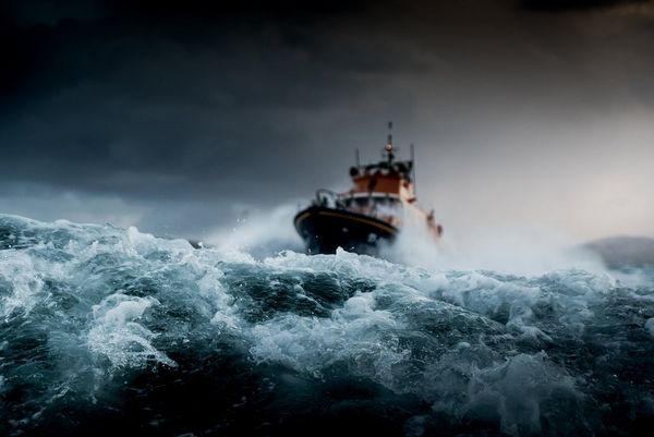 The RNLI Severn Class lifeboat by Canon Ambassador Clive Booth.