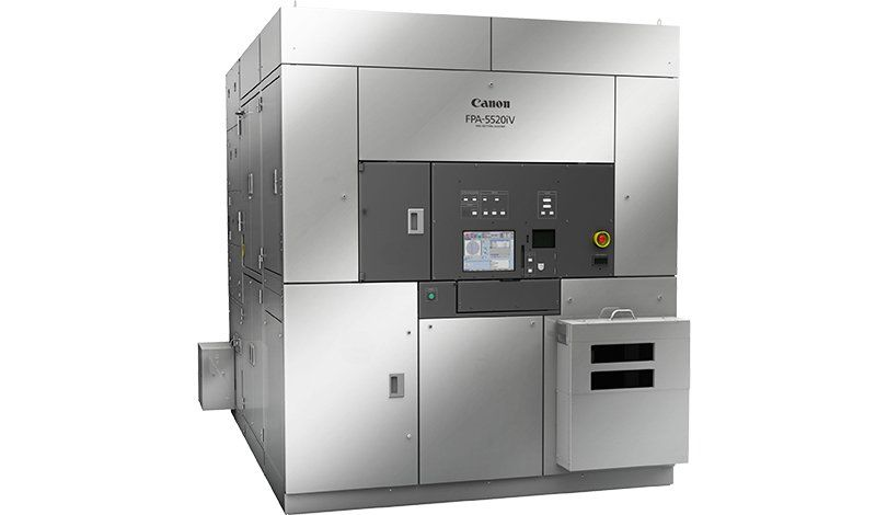 Full view of i-Line lithography machine Canon FPA-5520iV FPA