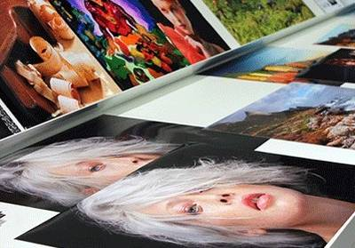 Printed colourful photographs