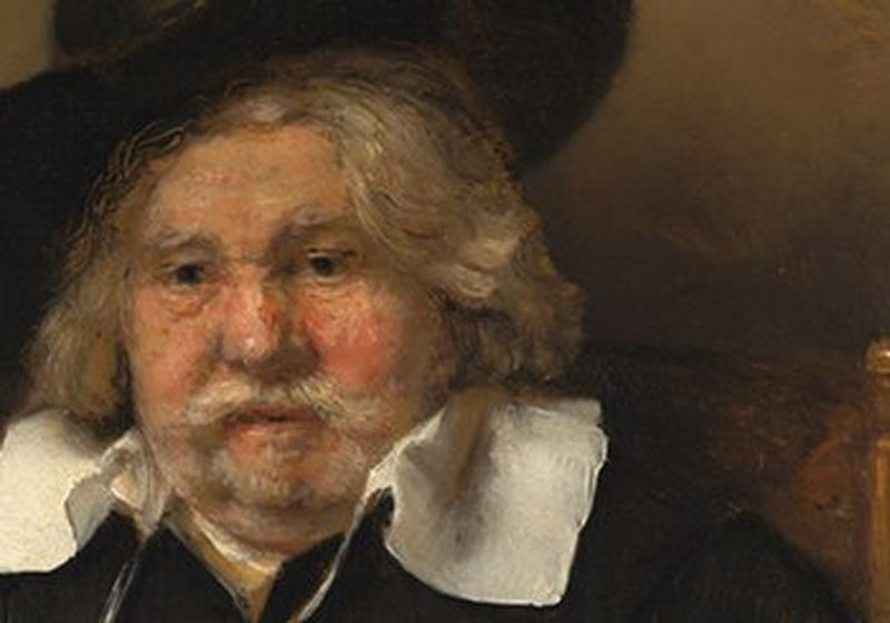 Close upon the face of Rembrandt's Portrait of an Elderly Man (Copyright: Mauritshuis collection, The Hague)