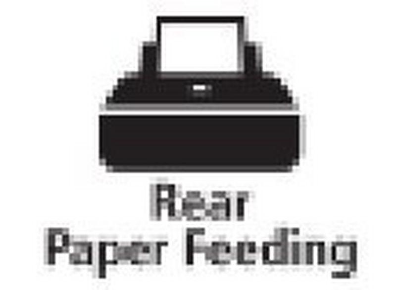 Rear paper feeder