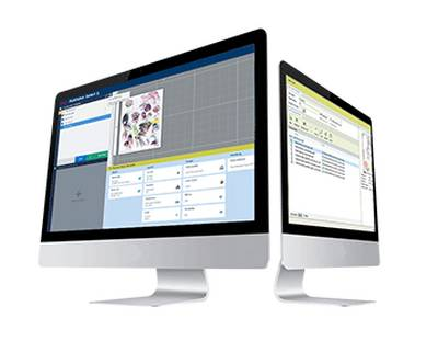 Print shop management software on desktops