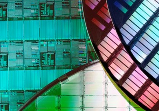 Semiconductor chips, fashioned into a colourful design