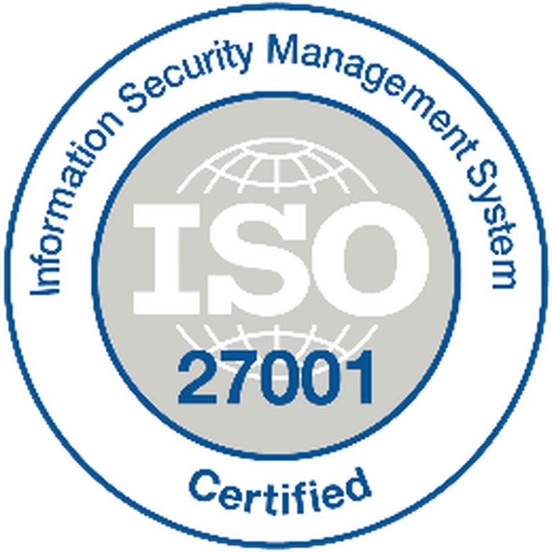 ISO 27001 Information Security Certificate