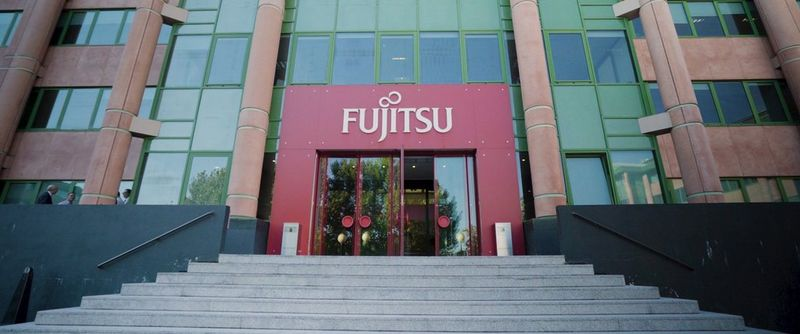 Fujitsu's office front building view