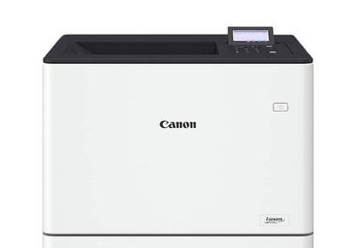 Compact Canon single function laser printer for office environments, with colour touchscreen.