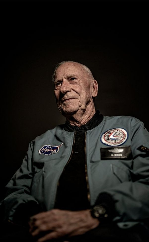 A colour shot of Apollo 15 Command Module Pilot, Al Worden.