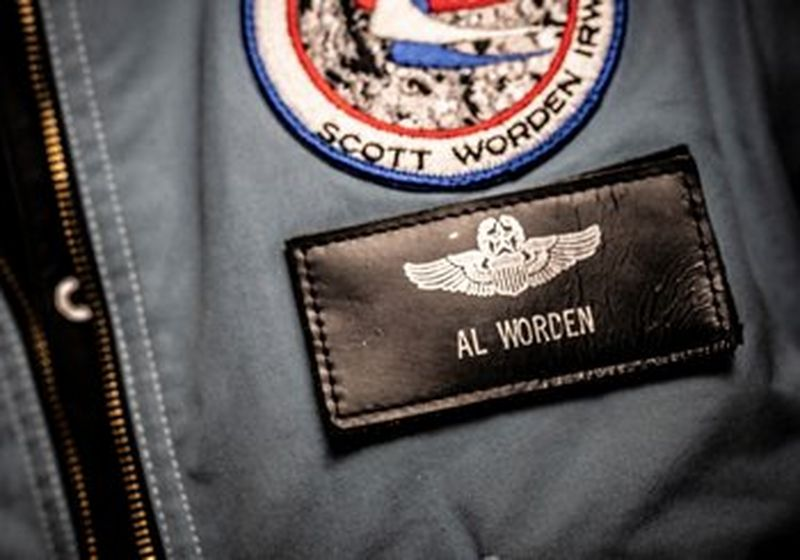 The badge of Apollo 15 Command Module Pilot, Al Worden. © Clive Booth