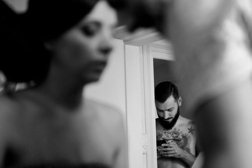 Behind the scenes at Romanian wedding - Groom in background - taken with a EOS 5D Mark IV