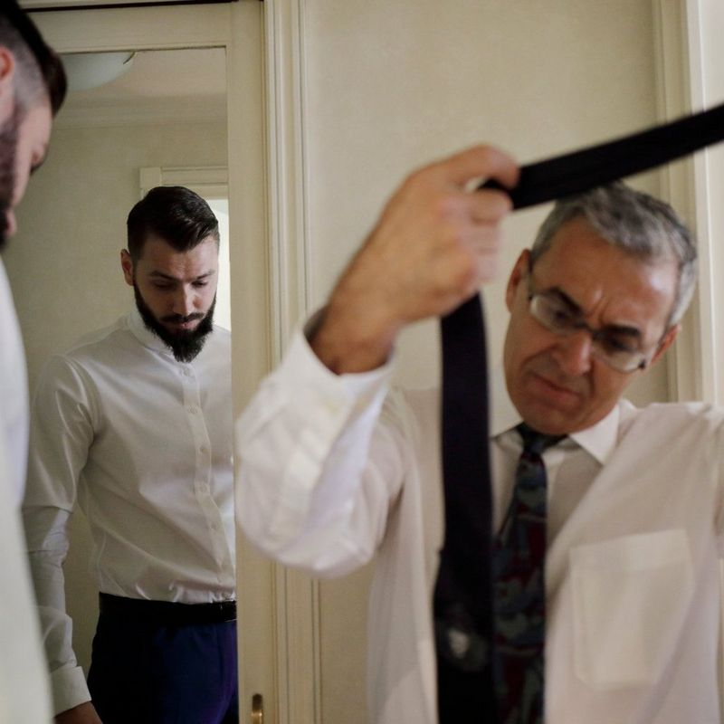 Scenes at Romanian wedding - Groom getting ready - taken with a EOS 5D Mark IV
