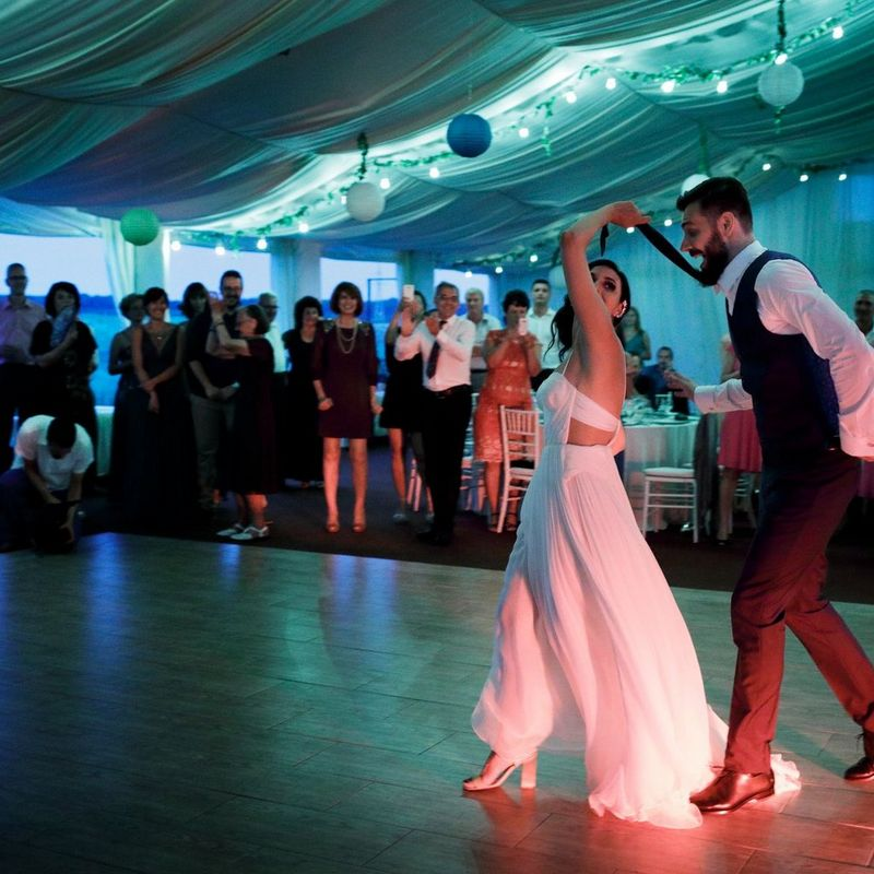 Scenes at Romanian wedding - Bride and Groom Dancing - taken with a EOS 5D Mark IV