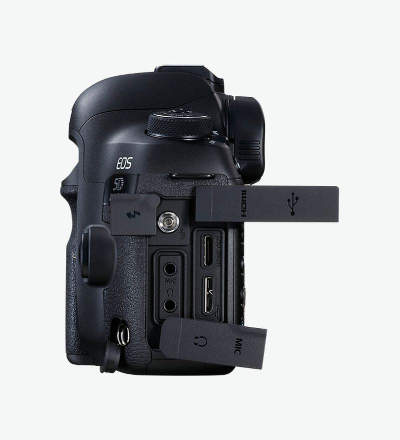EOS 5D Mark IV side view output options