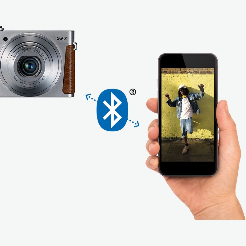 Camera connection with Bluetooth