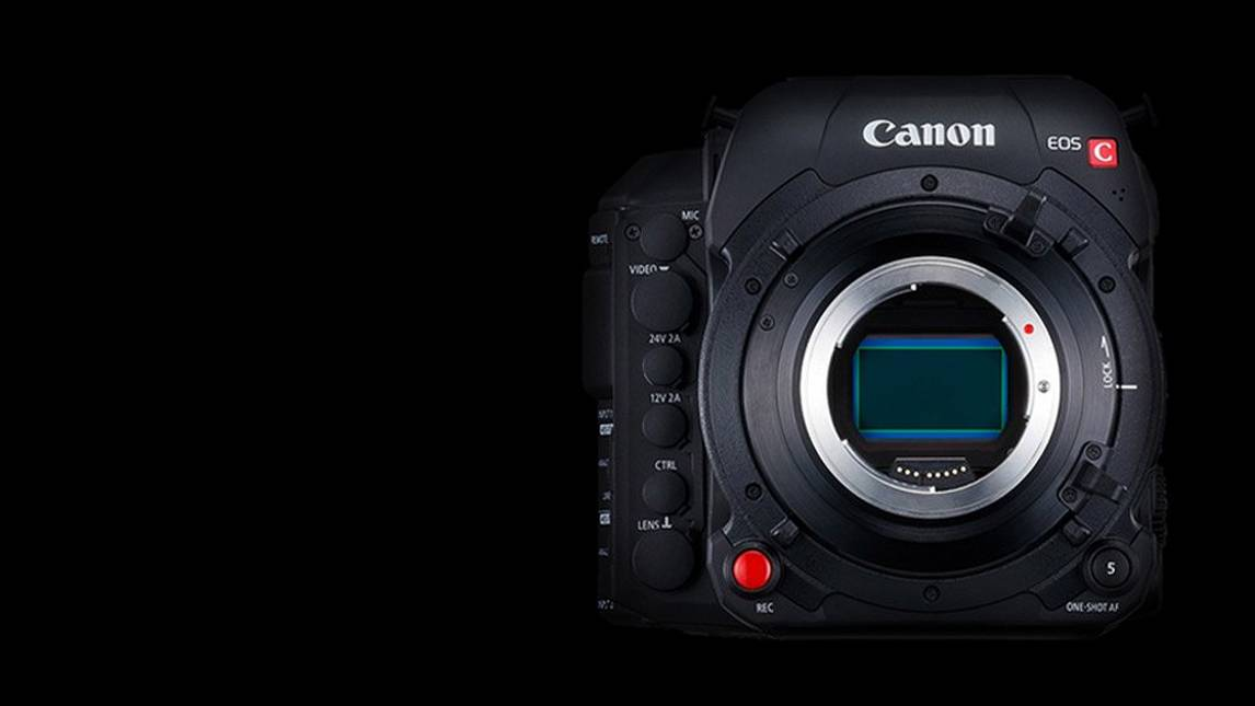 Canon C700 FF on a black background.