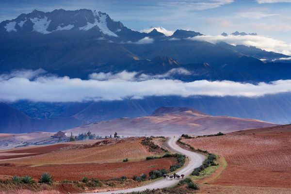 Mount Chicón and the Cordillera Urubamba in the Andes, photographed by David Noton on a Canon EOS-1DS Mark II.