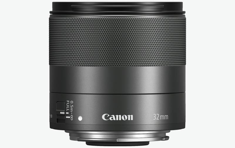 Canon EF-M 32mm f/1.4 STM front on