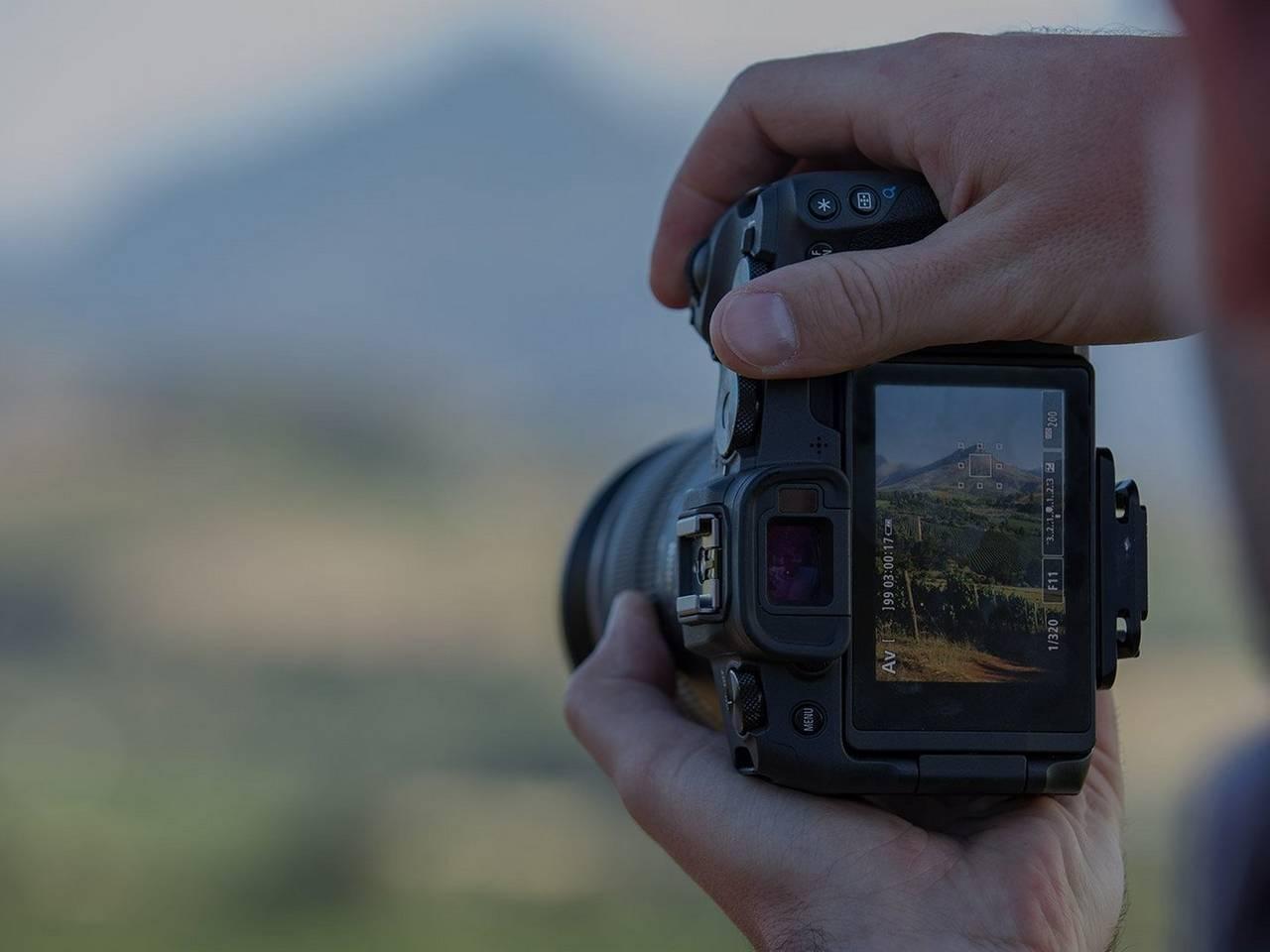 Canon EOS RP shooting landscape