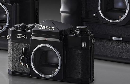 Some classic Canon cameras.