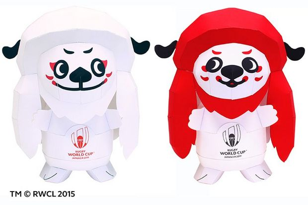 Rugby World Cup 2019™ mascots Ren and G created with Canon's Creative Park.