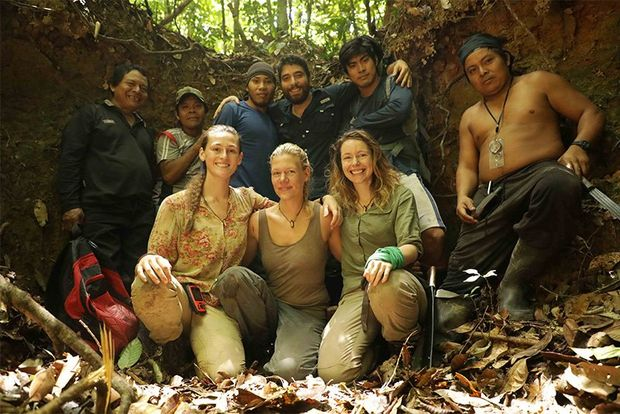 A group photograph by Jon Williams of the expedition members in the Guyana jungle.