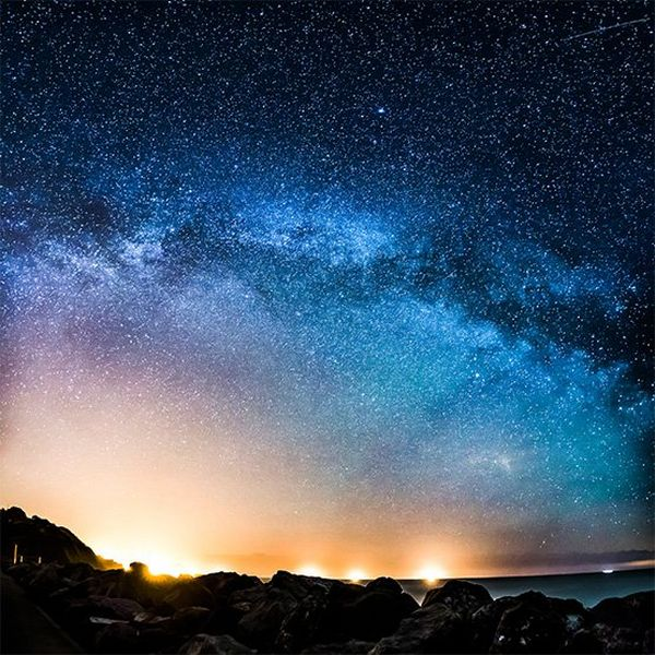 The Milky Way blazing across the sky.