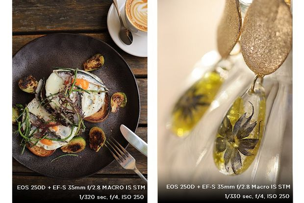 A composite image: left, eggs and avocado on toast; right: some earrings.