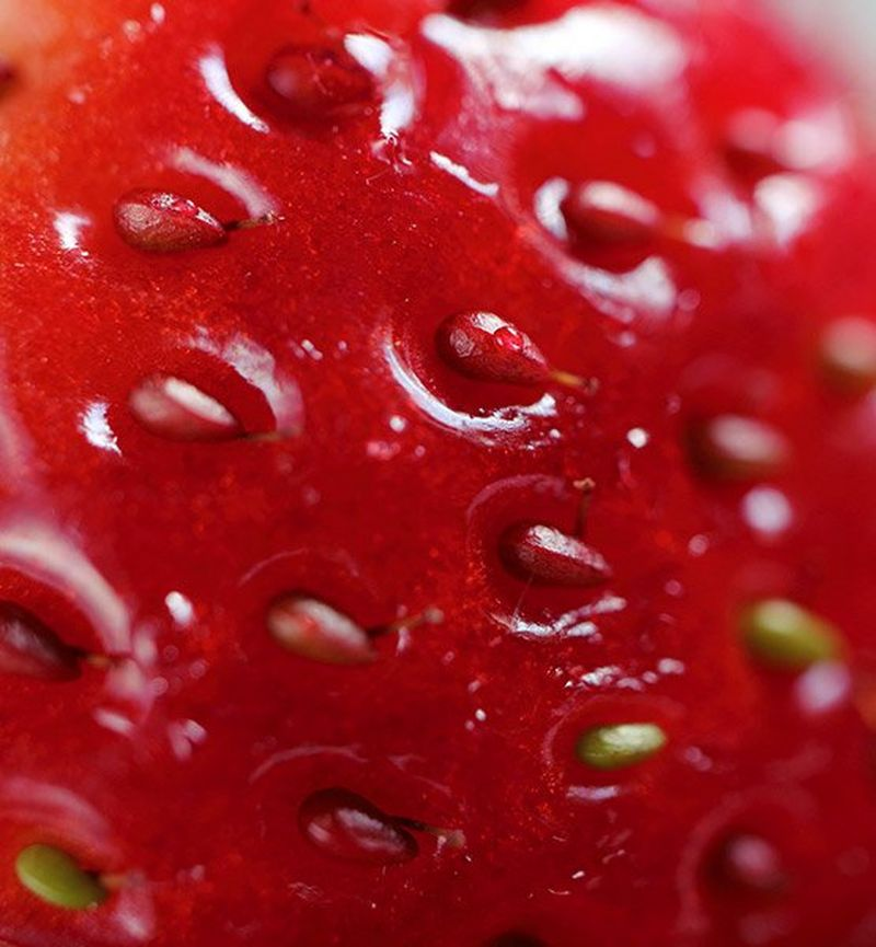 Macro close up strawberry