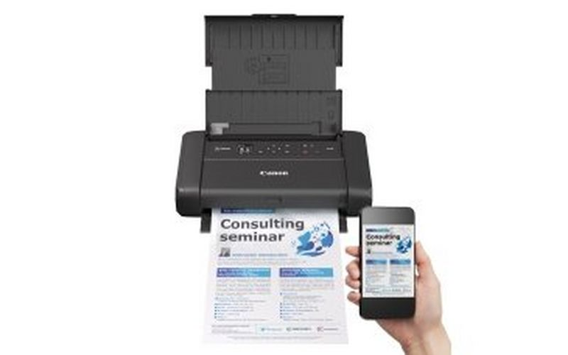 Take your office on the road with the Canon PIXMA TR150 and PIXMA TR150 with battery