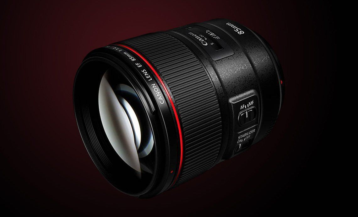 Canon's EF 85mm f/1.4L IS USM lens.