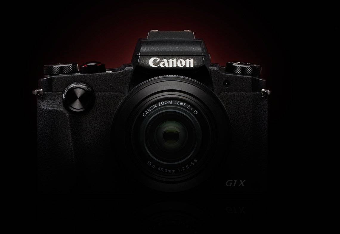 A photograph of the front end of the PowerShot G1 X Mark III.