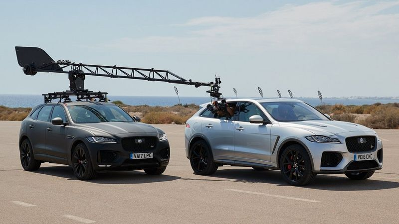 Jaguar F-PACE advert - behind the scenes