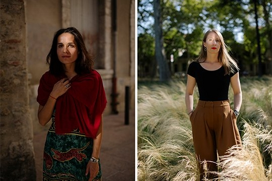 Photojournalists Nanna Heitmann, Laura Morton and Catalina Martin-Chico in a triptych of portraits.