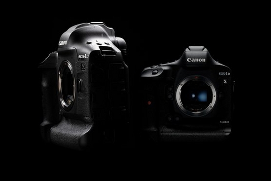 The Canon EOS-1D X Mark III and its predecessor, the EOS-1D X Mark II.