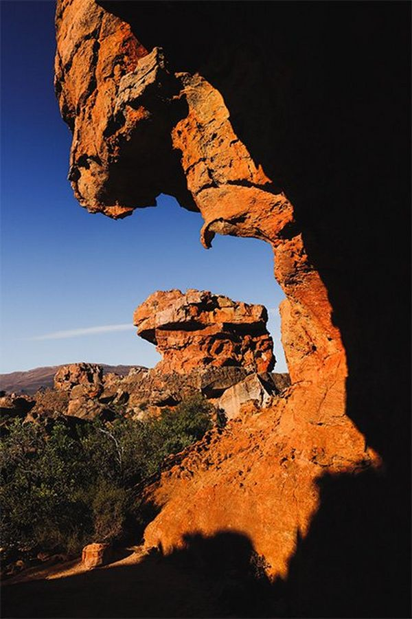 A red rock formation in South Africa.