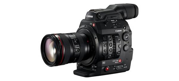 A Canon EOS C300 Mark II cine camera.
