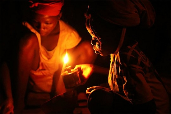 Pascal Maitre's low light portraits of Africa's electricity crisis