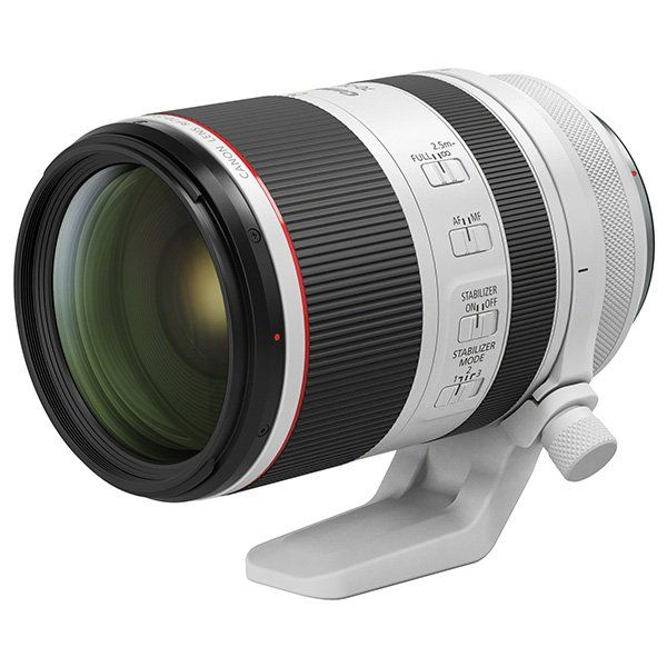 A Canon RF 70-200mm F2.8L IS USM lens.