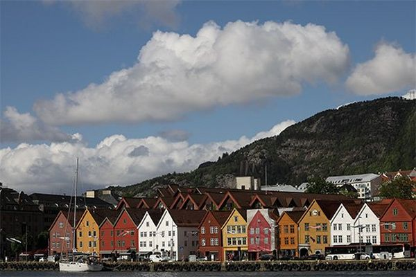 Colourful houses in Norway, taken with a Canon RF 24-240mm F4-6.3 IS USM lens.