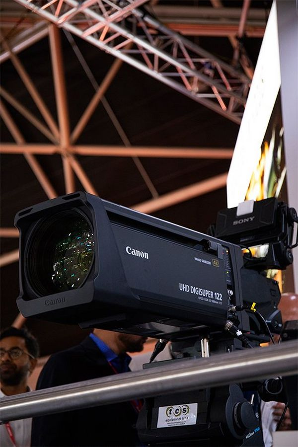 A Canon UHD DIGISUPER 122 lens at IBC.