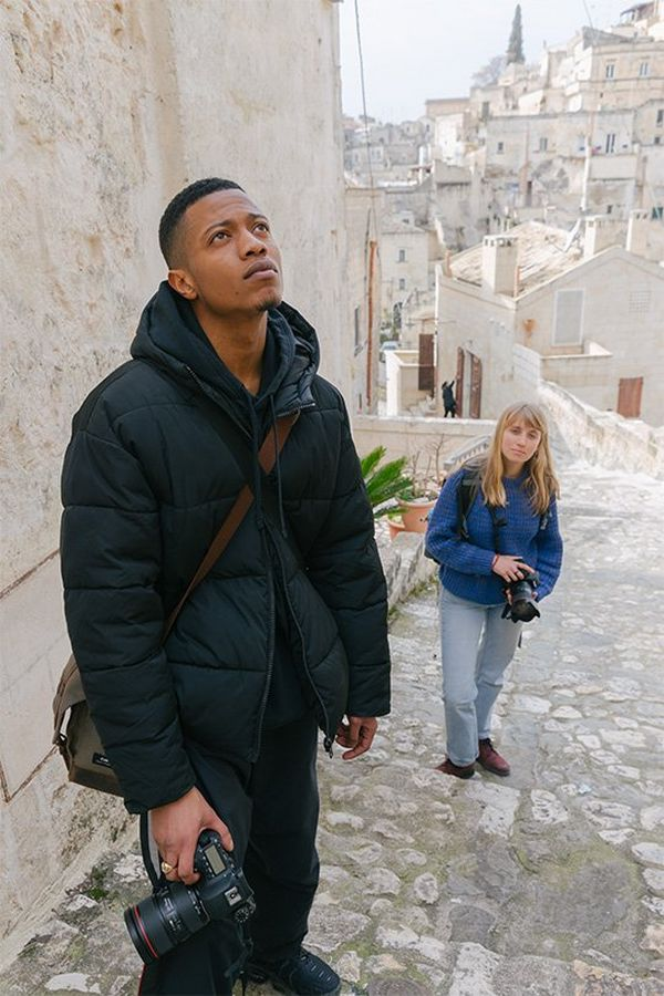 Photographers Henry Jay Kamara and Annapurna Mellor in Italy.